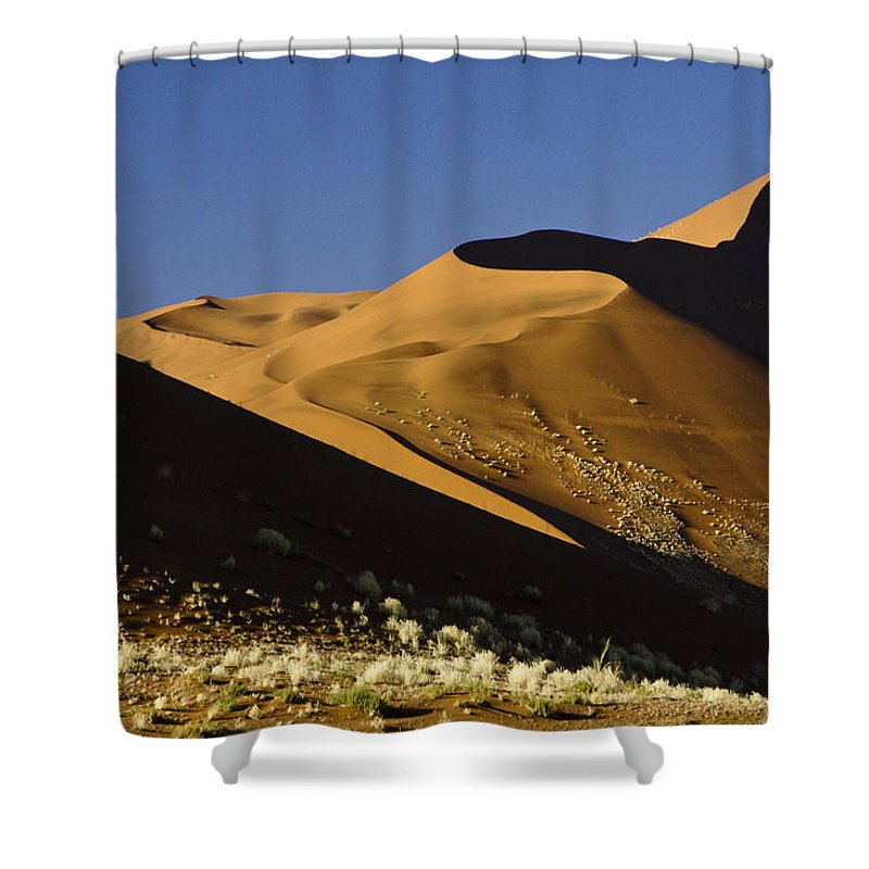 Africa Shower Curtain featuring the photograph The Dunes Of Sossusvlei by Michele Burgess