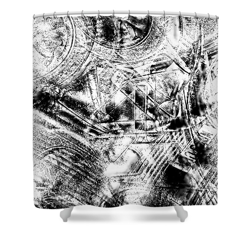 Abstract Shower Curtain featuring the photograph The Web by Tom Gowanlock