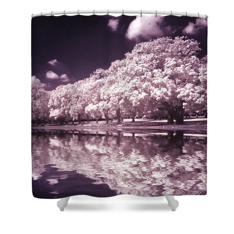 Trees Shower Curtain featuring the photograph Trees At The Carabobo Field by Galeria Trompiz