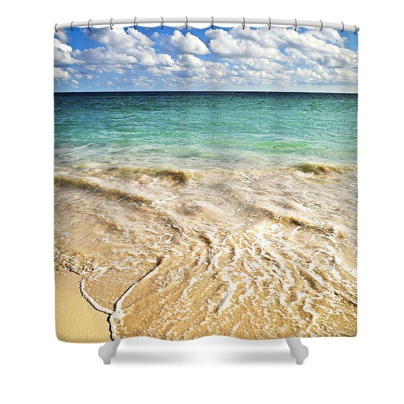 Beach Shower Curtain featuring the photograph Tropical Beach by Elena Elisseeva