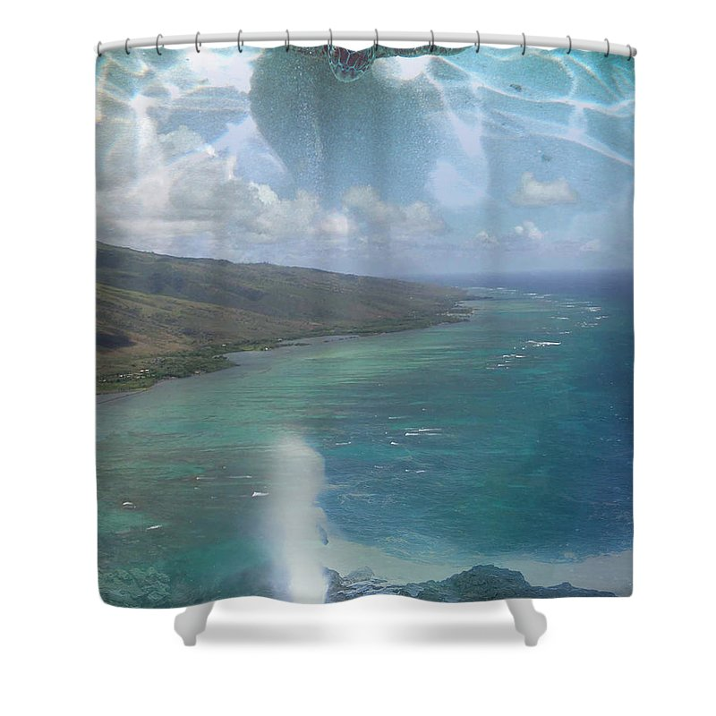 Turtle Shower Curtain featuring the photograph Turtle Vision by Angie Hamlin