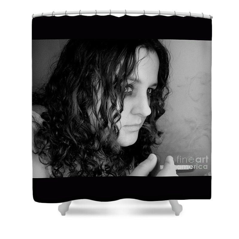 Ciggerette Shower Curtain featuring the photograph Untitiled by Meghann Brunney