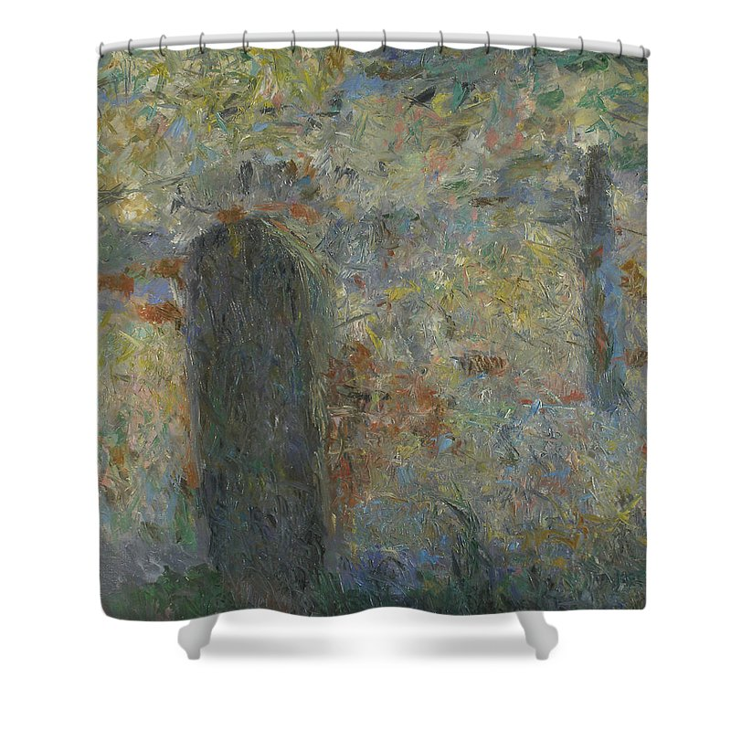 Wall Shower Curtain featuring the painting Wall by Robert Nizamov