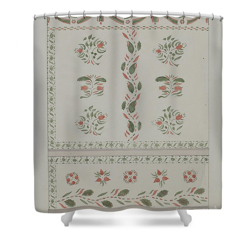 Shower Curtain featuring the drawing Wallpaper by American 20th Century