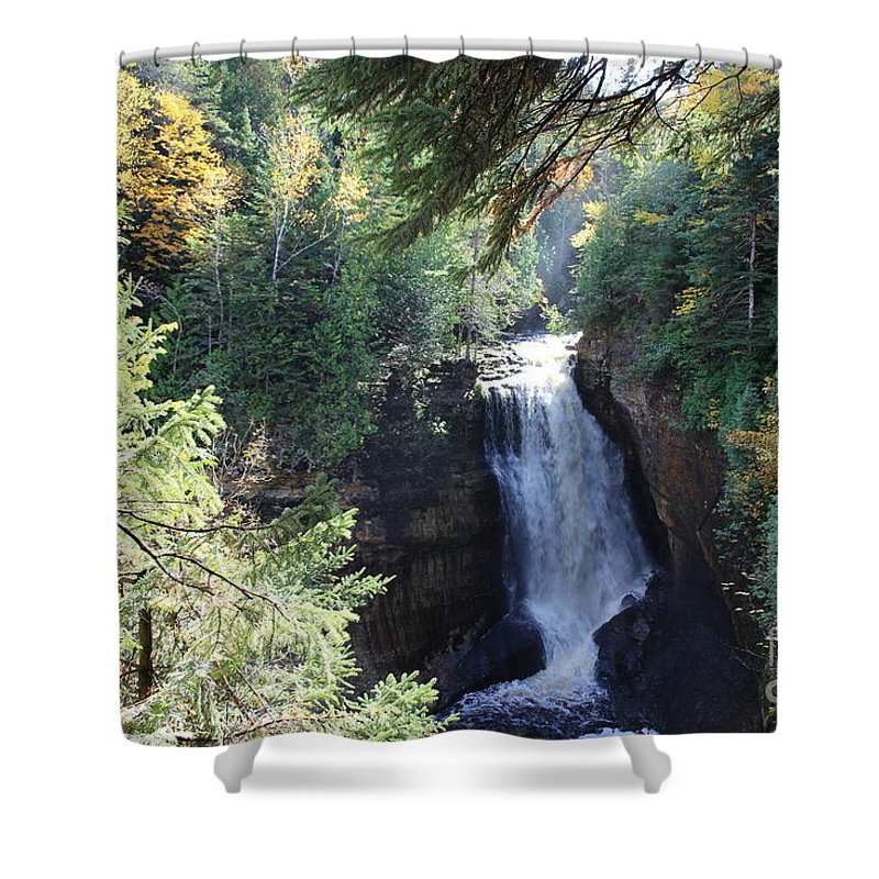 Water Shower Curtain featuring the photograph Waterfall by Brenda Ackerman
