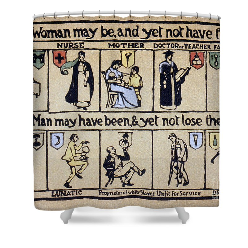 1910 Shower Curtain featuring the photograph Womens Rights by Granger