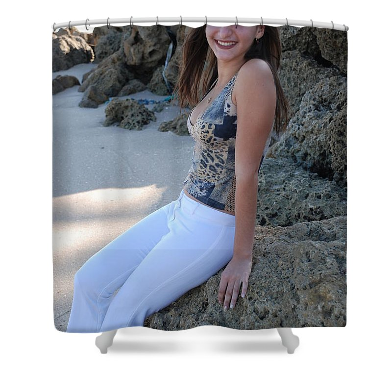 Women Shower Curtain featuring the photograph Gisele by Rob Hans