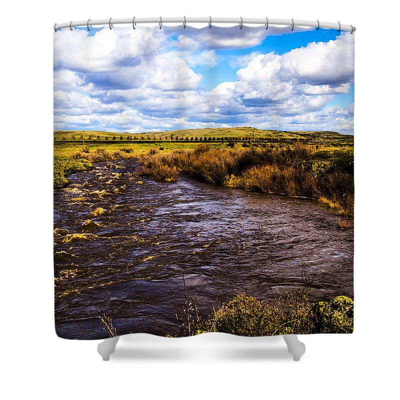 Shower Curtain featuring the photograph Journey Home by Angus Hooper Iii