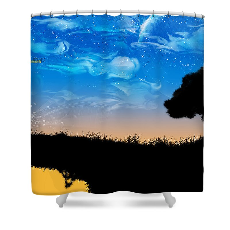 Nature Shower Curtain featuring the digital art Nature by Mery Moon