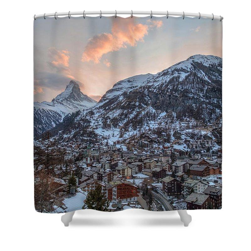 Matterhorn Shower Curtain featuring the photograph Zermatt - Switzerland by Joana Kruse