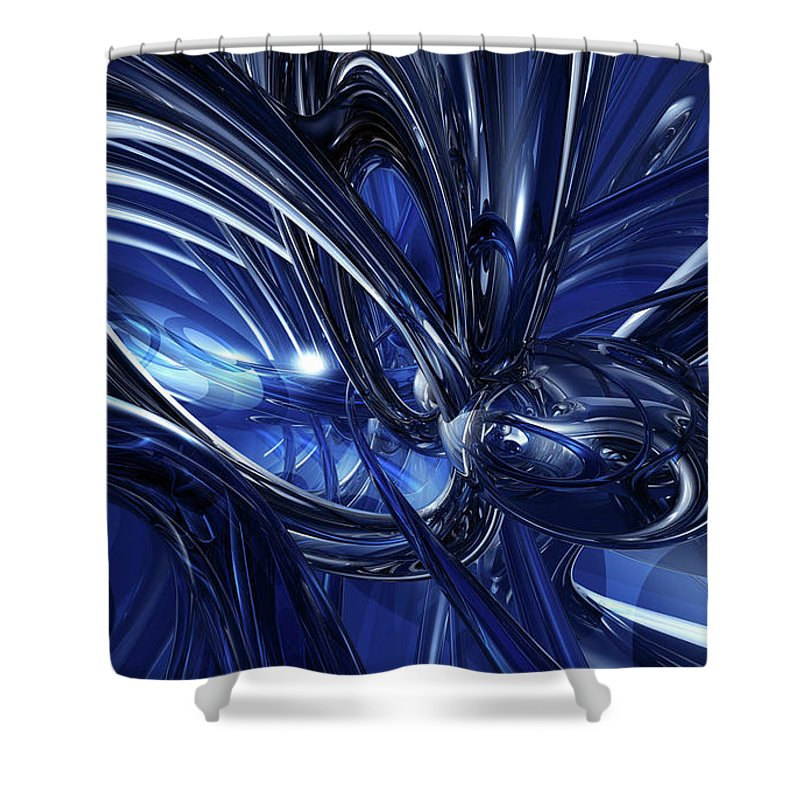 Blue Shower Curtain featuring the digital art Blue by Mery Moon