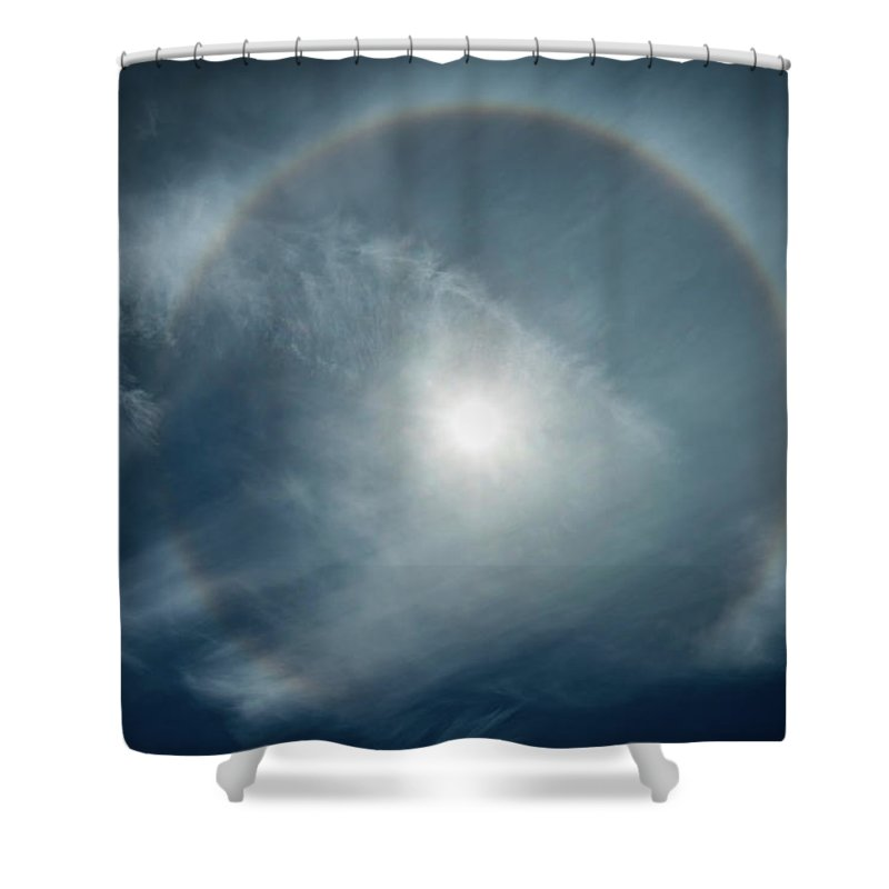 22 Degree Halo Shower Curtain featuring the photograph 22 Degree Solar Halo by William Freebilly photography