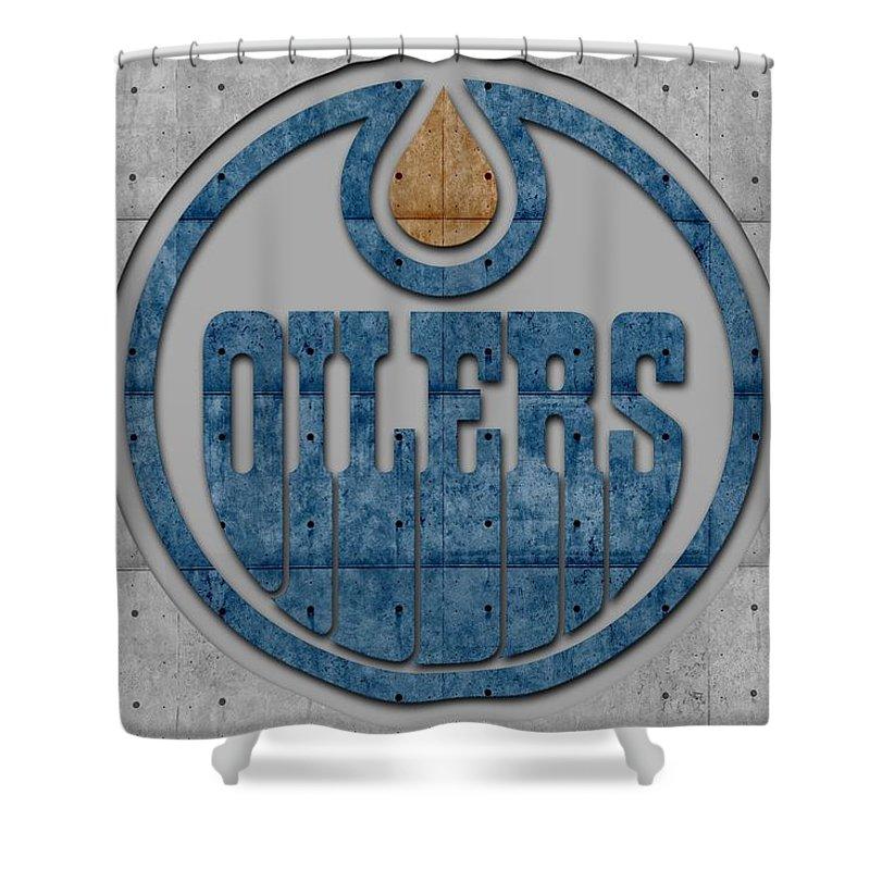 cbc97311b Oilers Shower Curtain featuring the photograph Edmonton Oilers by Joe  Hamilton