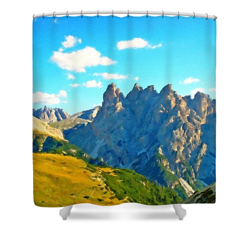 On Shower Curtain featuring the digital art Landscape Fine Art by Usa Map