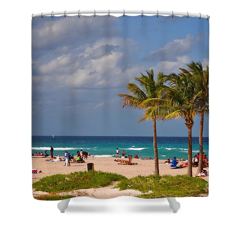 Singer Island Shower Curtain featuring the photograph 23- A Day At The Beach by Joseph Keane