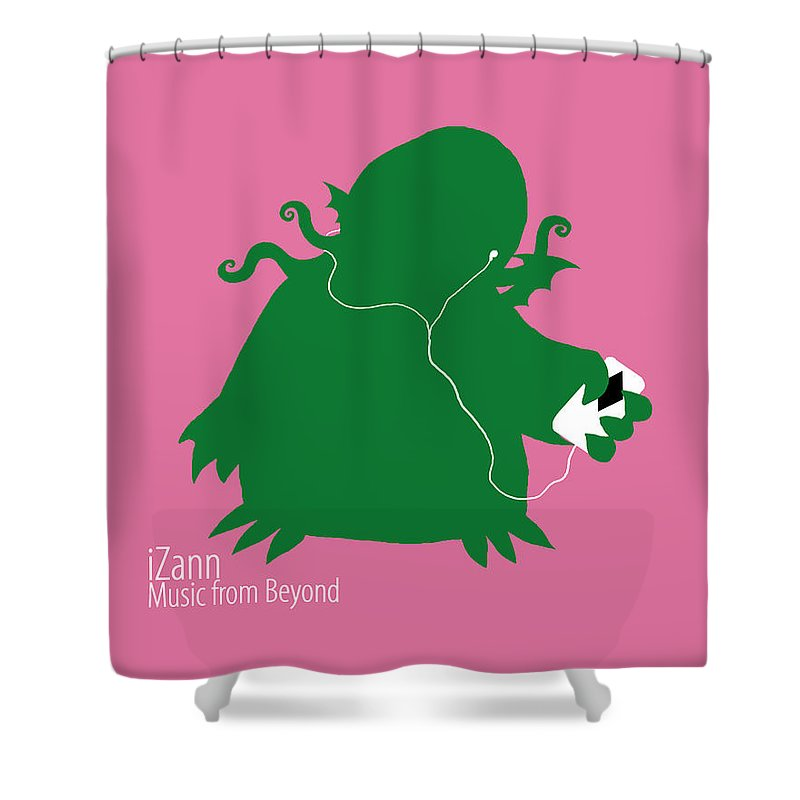 Funny Shower Curtain featuring the digital art Funny by Mery Moon