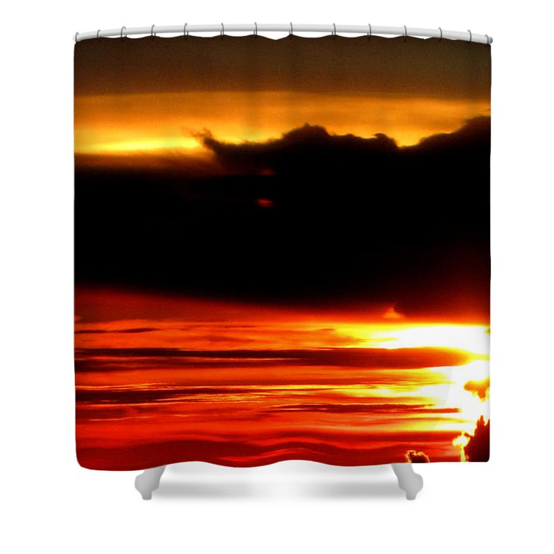 Shower Curtain featuring the photograph Above The Clouds by Sarah Houser