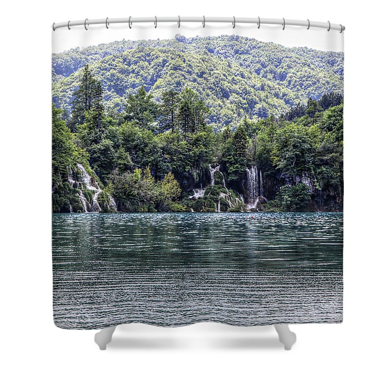 Plitvice Lakes National Park Croatia Shower Curtain featuring the photograph Plitvice Lakes National Park Croatia by Paul James Bannerman