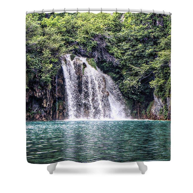 Plitvice Lakes National Park Croatia Shower Curtain featuring the photograph Plitvice Lakes National Park Croatia by Paul James Bannerman