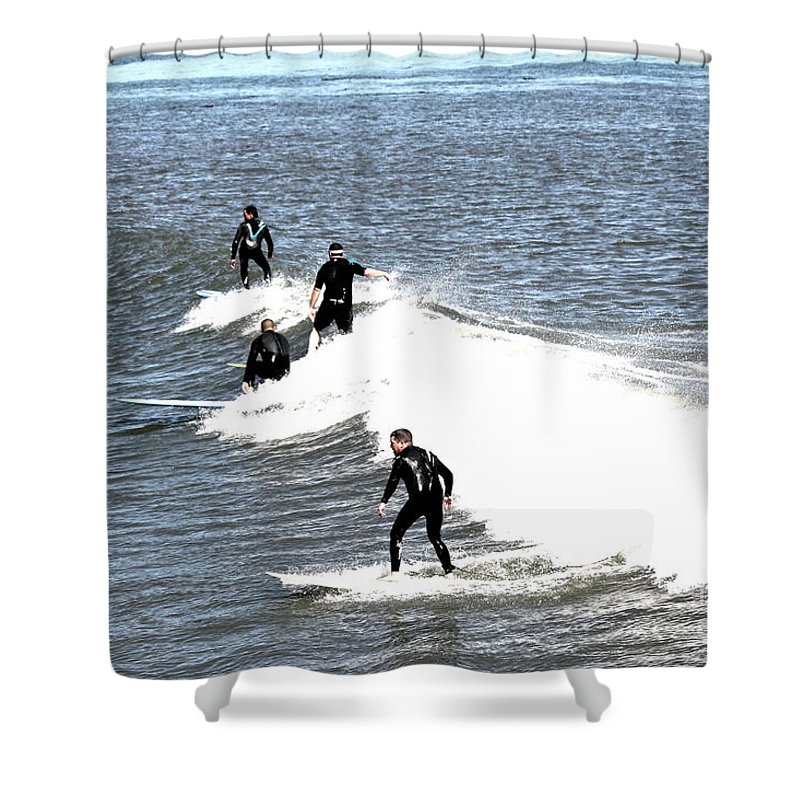 Landscape Shower Curtain featuring the photograph 273 - Capitola Village 6 Hdr by Chris Berry