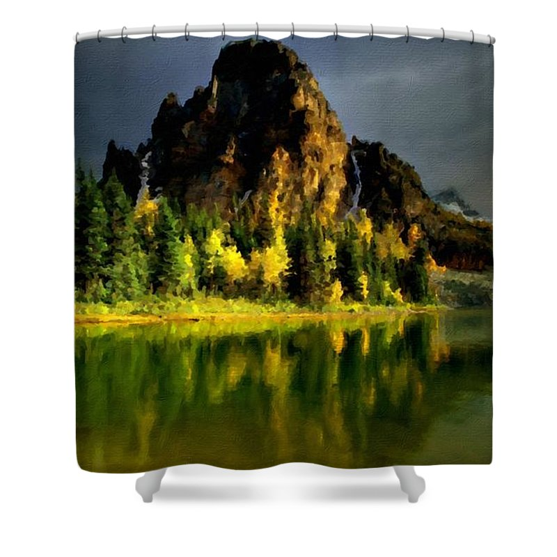 In Shower Curtain featuring the digital art Landscape Pics by Usa Map