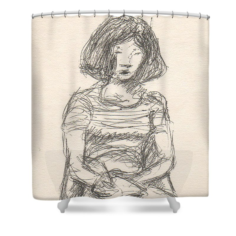 Small Shower Curtain featuring the drawing Untitled by T Ezell