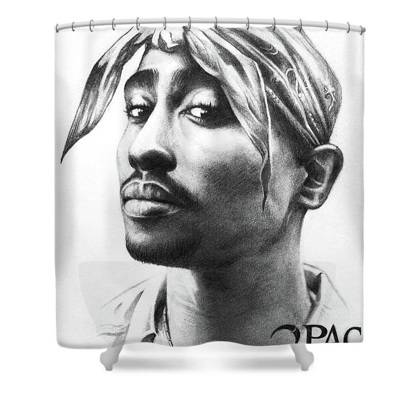 Lin Petershagen Shower Curtain Featuring The Drawing 2pac By