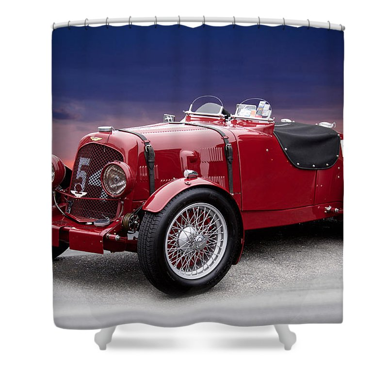 Auto Shower Curtain Featuring The Photograph 1938 Aston Martin Vintage Racecar By Dave Koontz