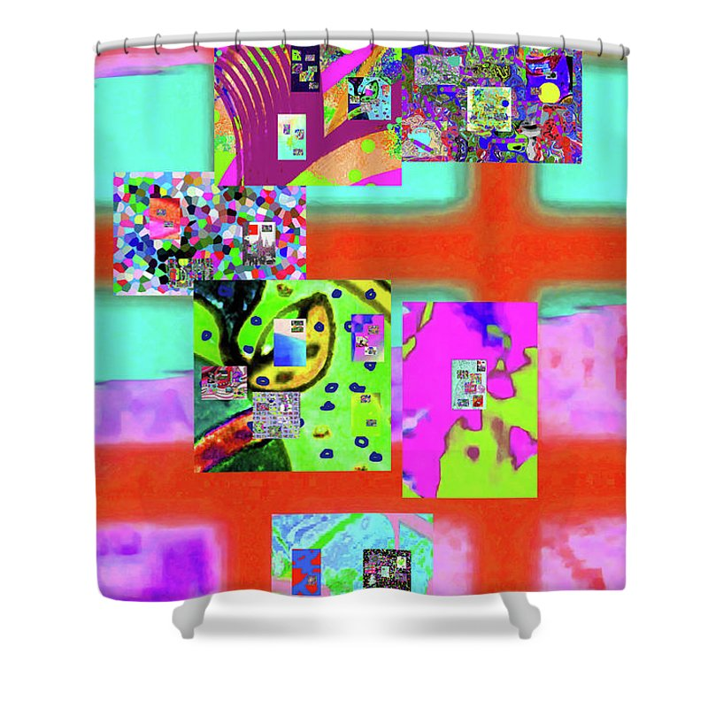 Walter Paul Bebirian Shower Curtain featuring the digital art 3-3-2016dabcdefghijklmnopqrtuvwxyzabc by Walter Paul Bebirian