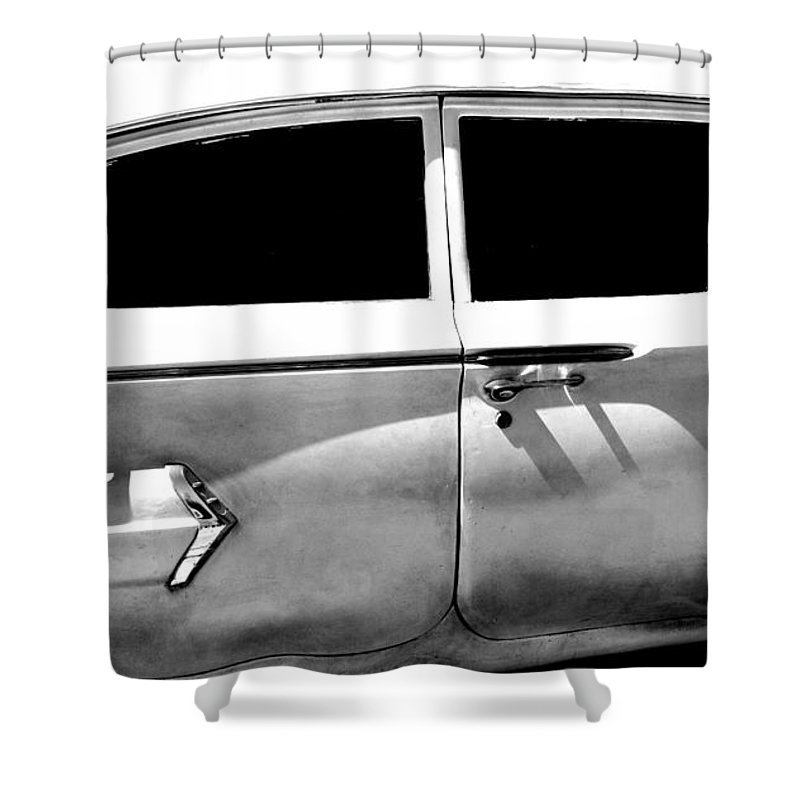 classic Cars Shower Curtain featuring the photograph Biscayne by Amanda Barcon