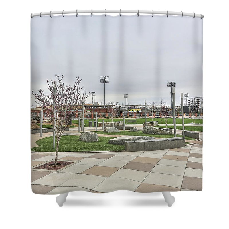 Charlotte Nc Downtown Shower Curtain featuring the photograph Charlotte Nc Downtown by Jimmy McDonald