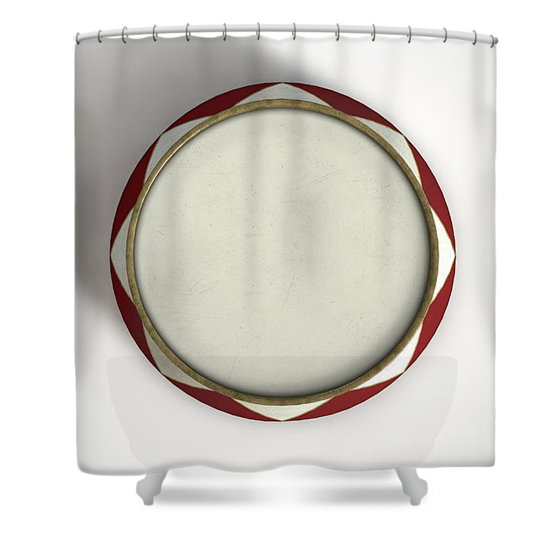 3d Render Shower Curtain Featuring The Digital Art Circus Podium Isolated By Allan Swart