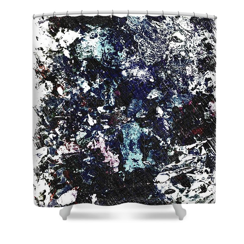Acrylic Shower Curtain featuring the painting Empathy by Dirk Weed