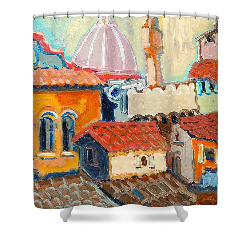 Italy Shower Curtain featuring the painting Florence by Kurt Hausmann