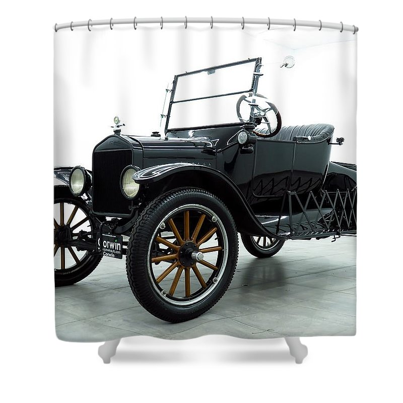 Ford Model T Shower Curtain featuring the photograph Ford Model T by Jackie Russo
