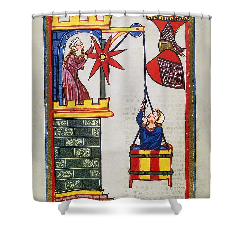 14th Century Shower Curtain featuring the photograph Heidelberg Lieder, 14th C by Granger