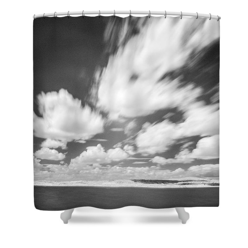 Snow Shower Curtain featuring the photograph Infrared Landscape by Odon Czintos