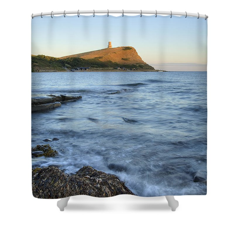 Kimmeridge Shower Curtain featuring the photograph Kimmeridge Bay In Dorset by Ian Middleton