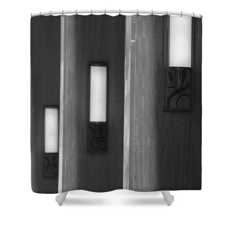 Sconce Shower Curtain featuring the photograph 3 Lighted Wall Sconce by Rob Hans