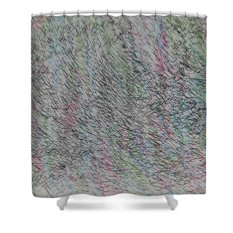 Shower Curtain featuring the painting Logos 2013 by Youngeun Jang