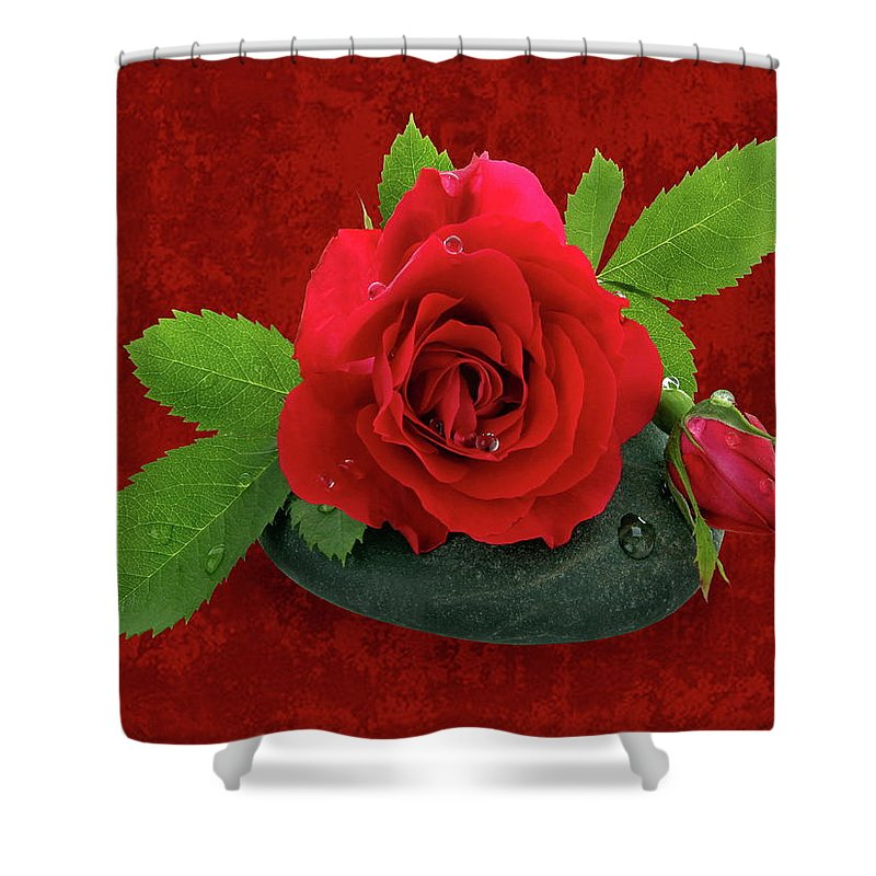 Love Shower Curtain featuring the photograph Love by Manfred Lutzius