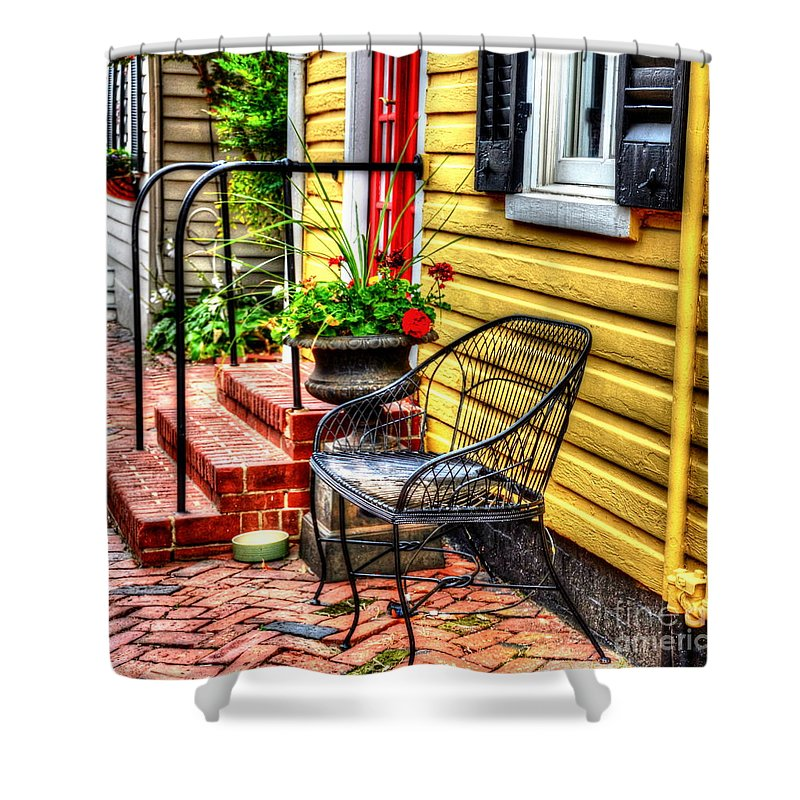 House Shower Curtain featuring the photograph Mellow Yellow by Debbi Granruth