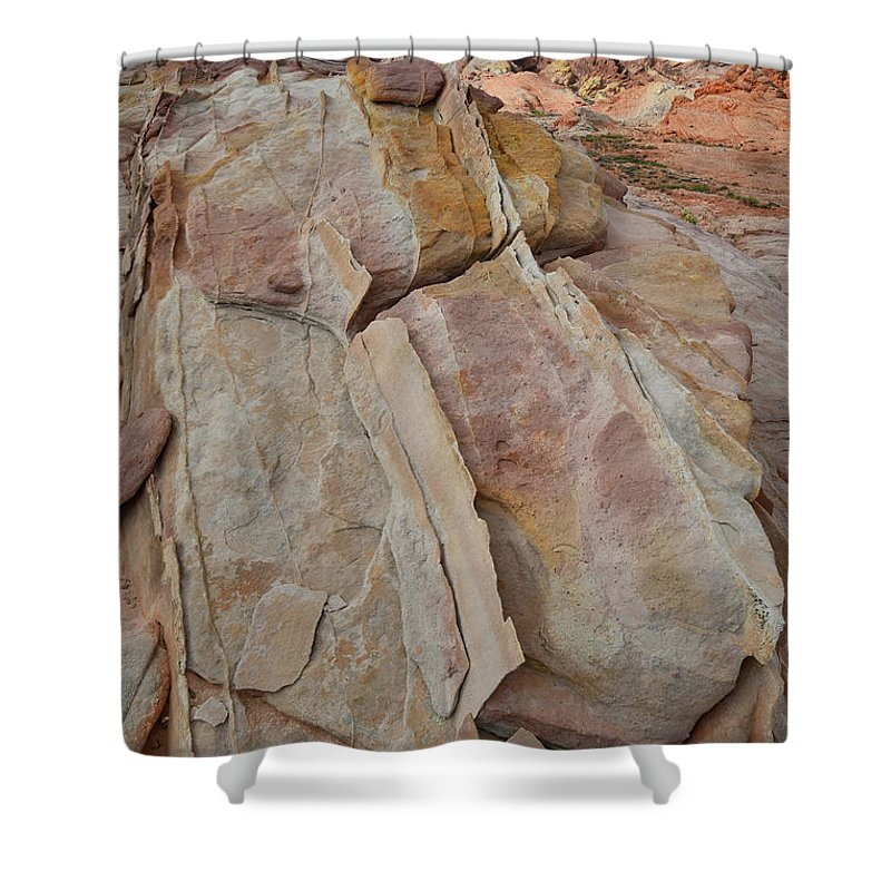 Valley Of Fire State Park Shower Curtain featuring the photograph Morning In Valley Of Fire State Park by Ray Mathis