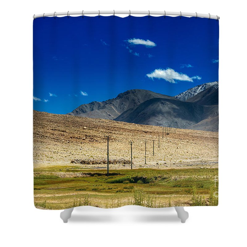 Ladakh Shower Curtain featuring the photograph Mountains Of Leh Ladakh Jammu And Kashmir India by Rudra Narayan Mitra