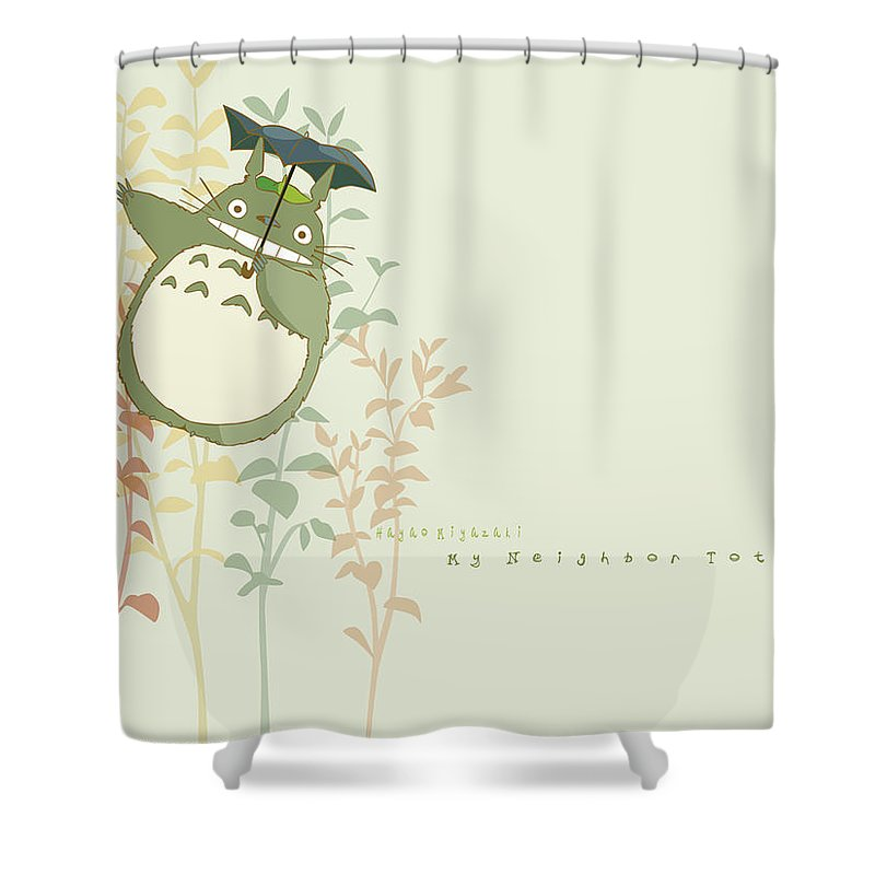 89050be241fb5 My Neighbor Totoro Shower Curtain featuring the digital art My Neighbor  Totoro by Mery Moon