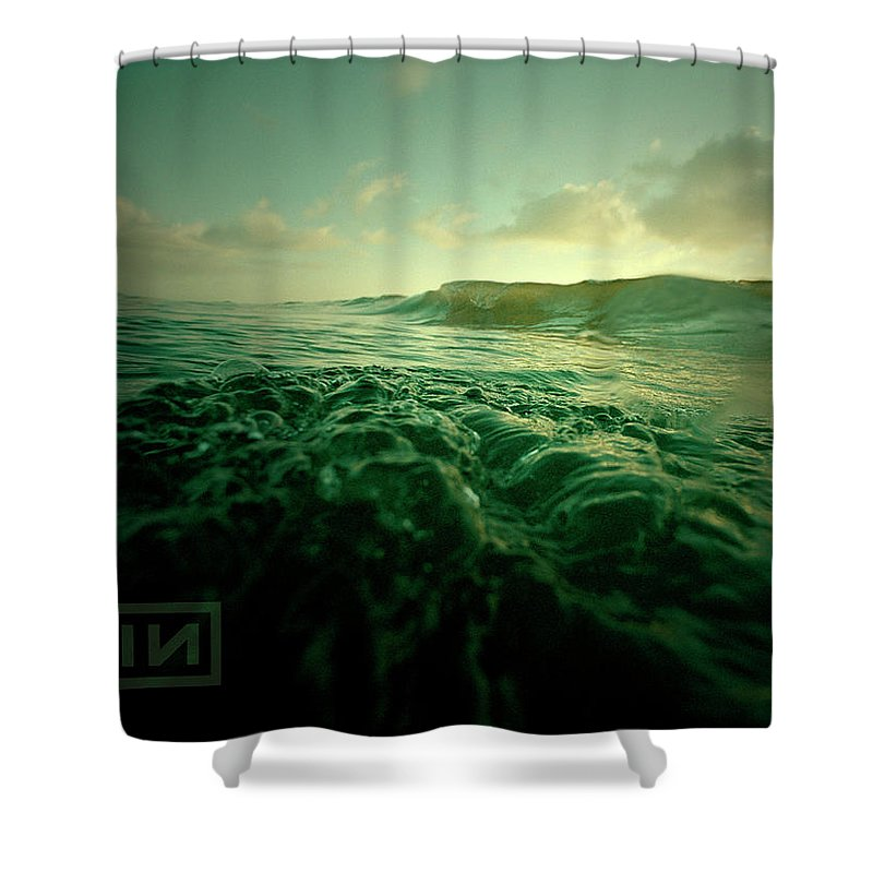Nine Inch Nails Shower Curtain featuring the digital art Nine Inch Nails by Mery Moon