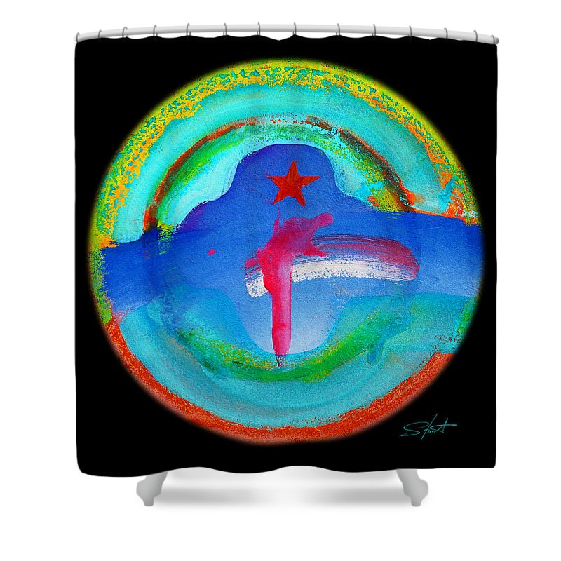 Wold Trade Center Shower Curtain featuring the painting One by Charles Stuart