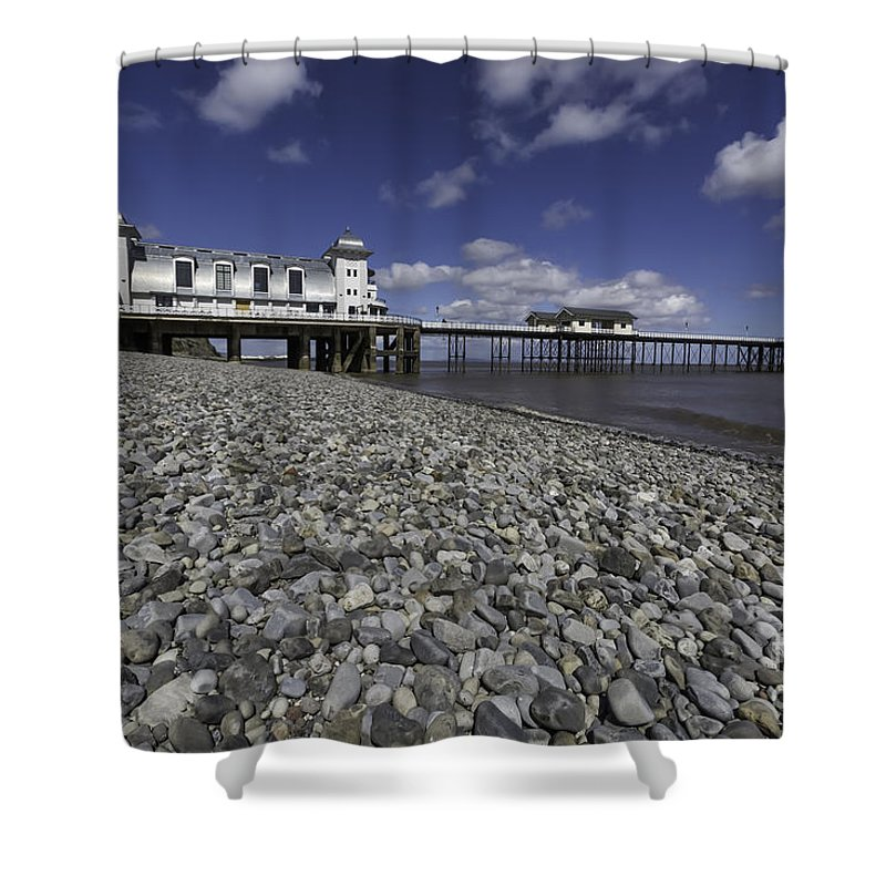 Penarth Pier Shower Curtain featuring the photograph Penarth Pier 2 by Steve Purnell