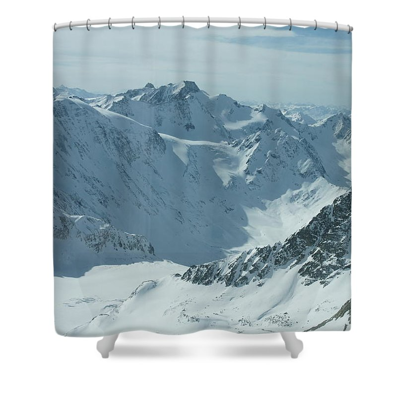 Pitztal Glacier Shower Curtain featuring the photograph Pitztal Glacier by Olaf Christian
