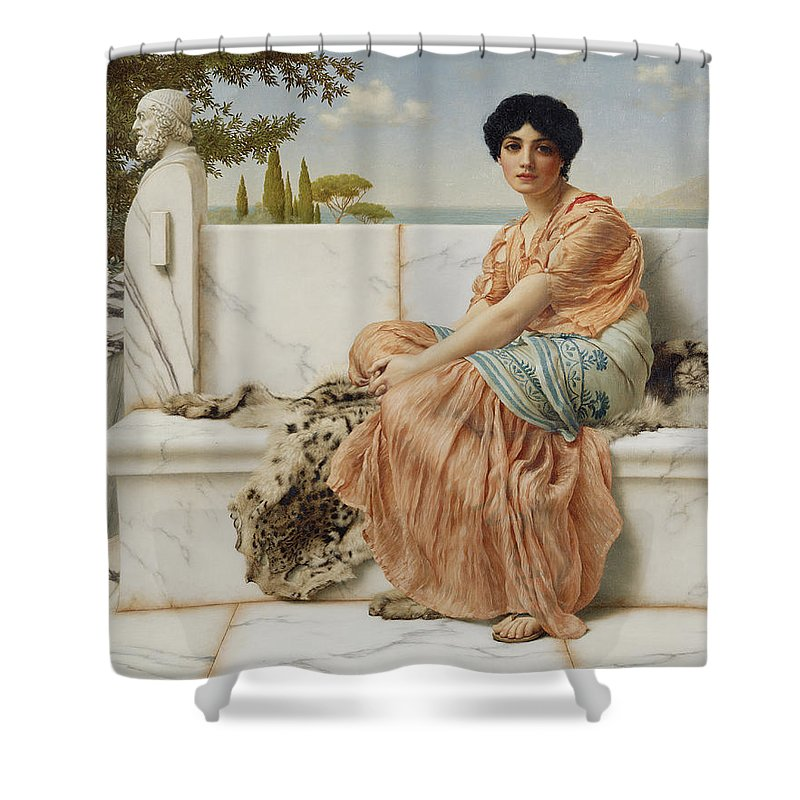 Reverie Shower Curtain featuring the painting Reverie by John William Godward